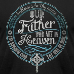 Our Father Jesus Prayer - Men's T-Shirt by American Apparel