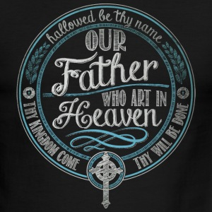 Our Father Jesus Prayer - Men's Ringer T-Shirt