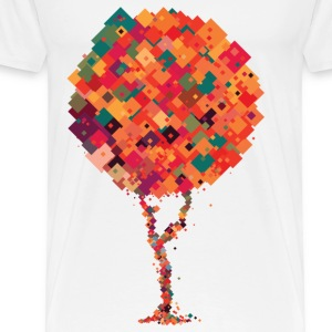 Colourful pixel tree T-Shirts - Men's Premium T-Shirt