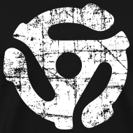 Design ~ 45 R.P.M. Record Adaptor T-Shirt (Men Black/White)