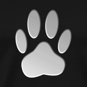 Metalic Dog Paw Print - Men's Premium T-Shirt