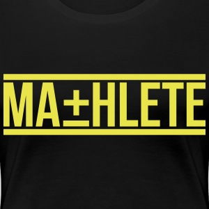 MATHLETE crewneck womens tee by AiReal Apparel - Women's Premium T-Shirt