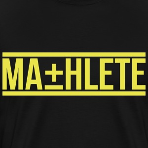 MATHLETE crewneck mens tee by AiReal Apparel - Men's Premium T-Shirt