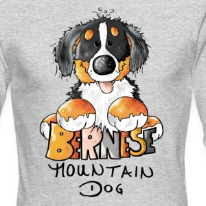 Cute Bernese Mountain Dog  Long Sleeve Shirts - Men's Long Sleeve T-Shirt by Next Level