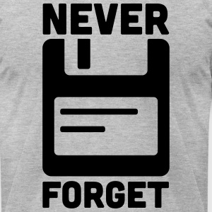 Never Forget Floppy Disk  T-Shirts - Men's T-Shirt by American Apparel