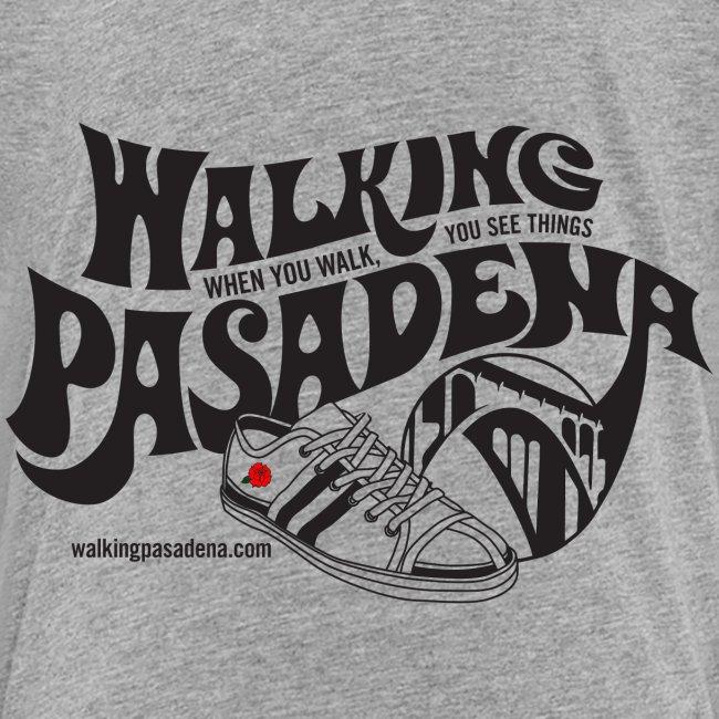 Kids' Walking Pasadena T-shirt (black logo)