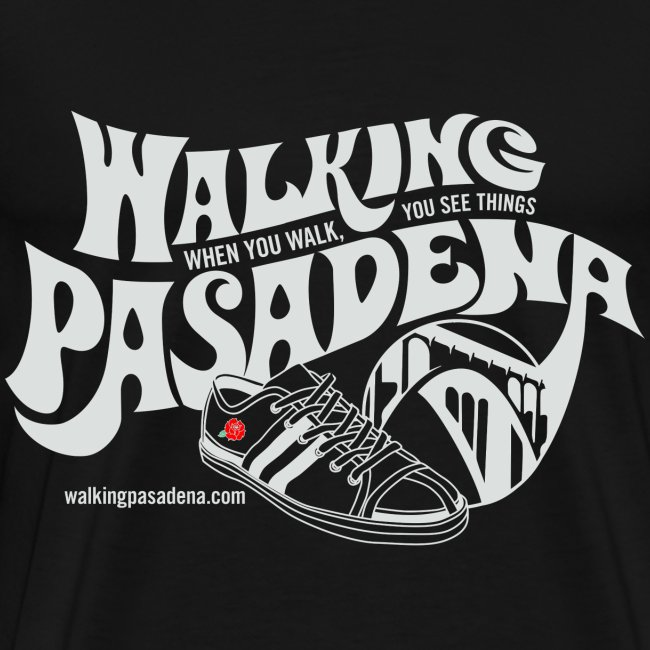 Men's Walking Pasadena T-shirt (white logo)