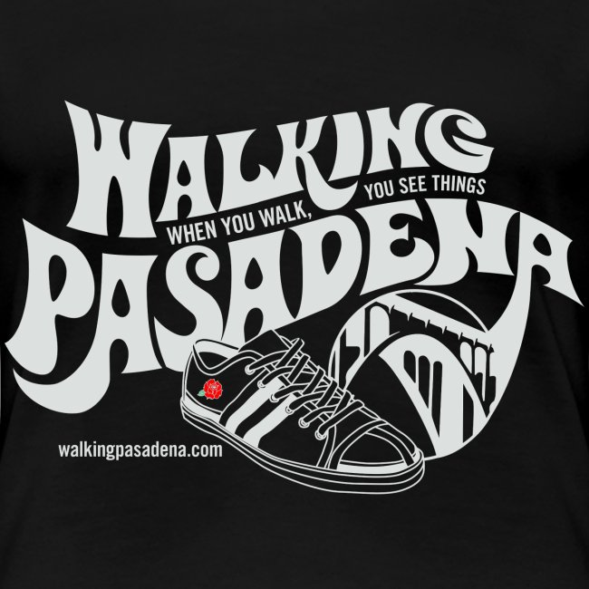 Women's Walking Pasadena T-shirt (white logo)
