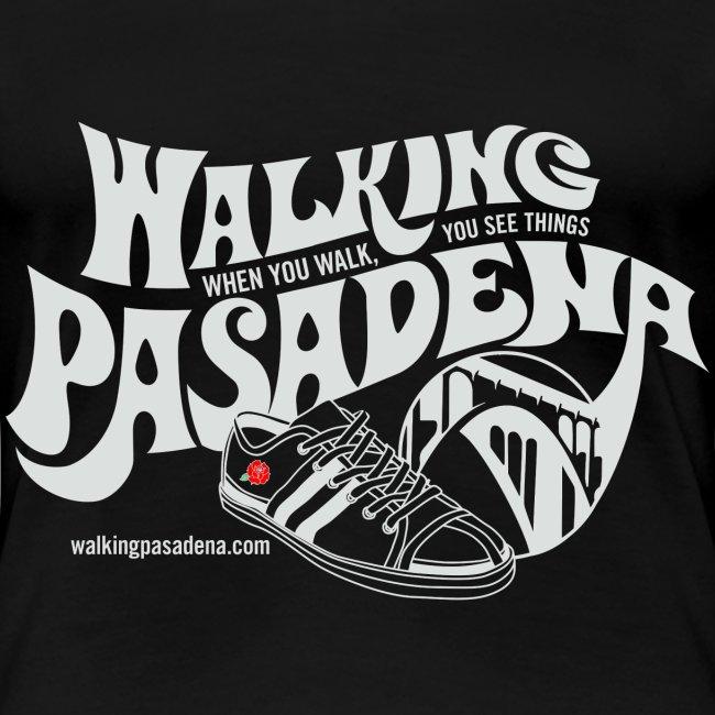 Women's Walking Pasadena T-shirt (white logo)
