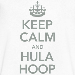 Keep Calm And Hula Hoop T-Shirts - Men's V-Neck T-Shirt by Canvas