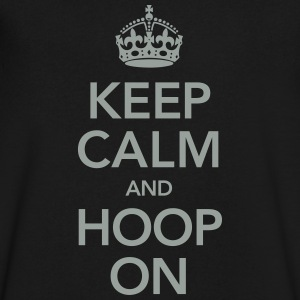Keep Calm And Hoop On T-Shirts - Men's V-Neck T-Shirt by Canvas
