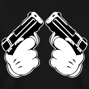 Mickey's hands with guns - Men's Premium T-Shirt