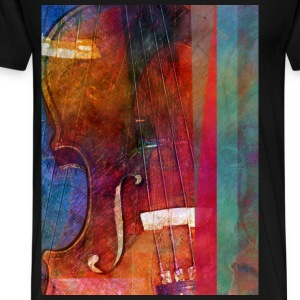 Violin Abstract One - Men's Premium T-Shirt