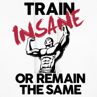 Design ~ Train insane or remain the same pic | Womens hoodie