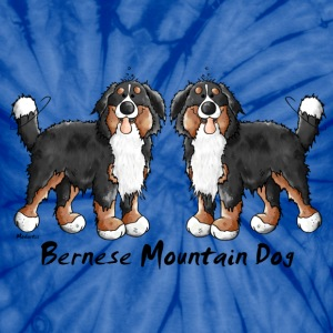Two Bernese Mountain Dogs T-Shirts - Unisex Tie Dye T-Shirt