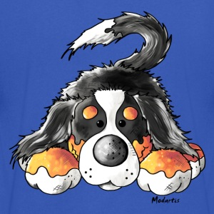 Cute Bernese Mountain Dog  T-Shirts - Men's V-Neck T-Shirt by Canvas