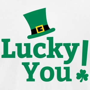 Lucky You St Patricks Day T-Shirts - Men's T-Shirt by American Apparel