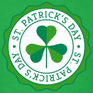 Lucky Shamrock Badge - St. Patrick's Day T-Shirts - Men's T-Shirt