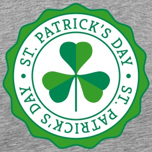 Lucky Shamrock Badge - St. Patrick's Day T-Shirts - Men's Premium T-Shirt