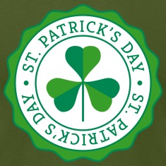 Lucky Shamrock Badge - St. Patrick's Day T-Shirts