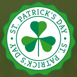 Lucky Shamrock Badge - St. Patrick's Day T-Shirts - Men's T-Shirt by American Apparel