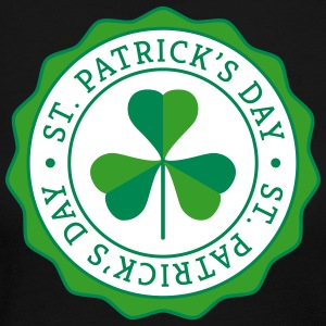 Lucky Shamrock Badge - St. Patrick's Day Long Sleeve Shirts - Women's Long Sleeve Jersey T-Shirt