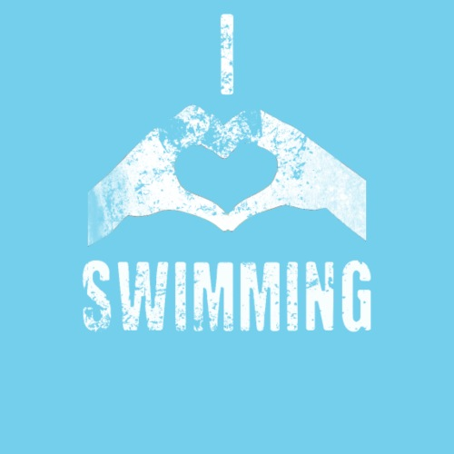 I heart swimming- vintage look
