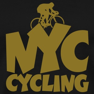 NYC cycling t-shirt (Men/Gold) - Men's Premium T-Shirt