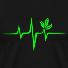 Pulse Green, Go Vegan, Save Earth, Wave, Heartbeat T-Shirts