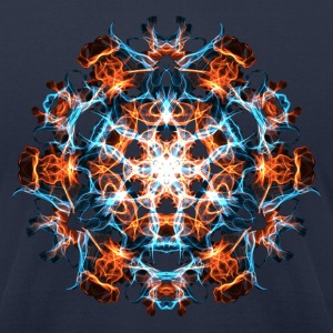 Power Symbol, Fractal Art, Energy, Hero, Superhero T-Shirts - Men's T-Shirt by American Apparel