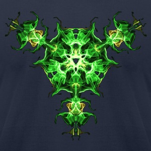Force Shield, Power, Superhero, Fractal, Energy T-Shirts - Men's T-Shirt by American Apparel