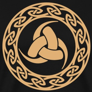 Triple Horn of Odin,  celtic endless knot T-Shirts - Men's Premium T-Shirt