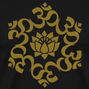 OM Lotus, Meditation, Yoga, AUM, Buddhism T-Shirts - Men's Premium T-Shirt