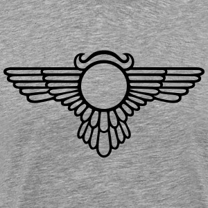 Winged Globe, symbol of the perfected soul T-Shirt - Men's Premium T-Shirt