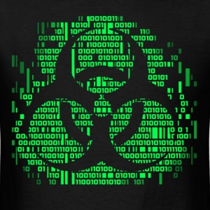 Biohazard Binary Green T-Shirts - Men's T-Shirt