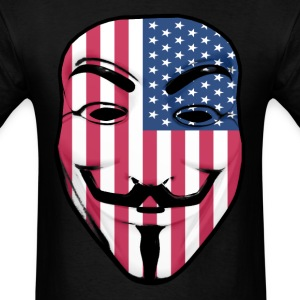 Guy Fawkes American Flag T-Shirts - Men's T-Shirt