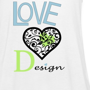 Love Design - Women's Flowy Tank Top by Bella