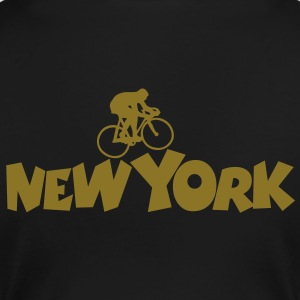 New York Racer T-Shirt (Women/Gold) Back - Women's Premium T-Shirt
