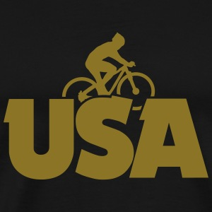 USA Biking T-Shirt (Men/Gold) - Men's Premium T-Shirt