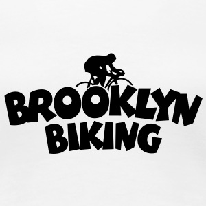 Brooklyn Biking T-Shirt (Women) - Women's Premium T-Shirt