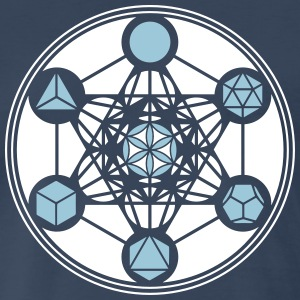 Platonic Solids, Metatrons Cube, Flower of Life - Men's Premium T-Shirt