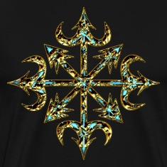 Chaos Star, Symbol of chaos, gold, Everything has meaning and magic power! Power symbol, Energy symbol T-Shirts