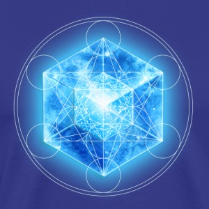 Metatrons Cube with TESSERACT, Hypercube 4D,  - Men's Premium T-Shirt