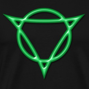 AUM -  strength and radiance, digital, green, Symbol of Antares T-Shirts - Men's Premium T-Shirt