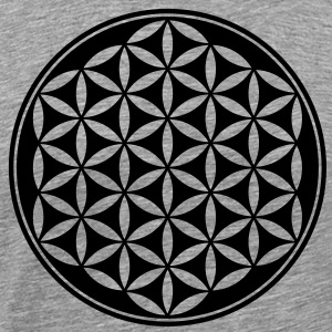 Flower of Life - Vector- Sacred Geometry, energy  - Men's Premium T-Shirt
