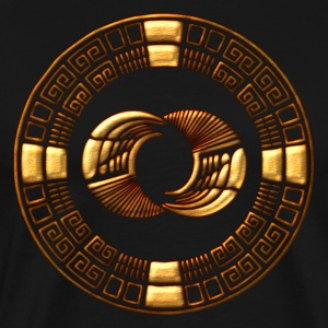 Maya Time-Wheel crop circle - Silbury Hill T-Shirt - Men's Premium T-Shirt