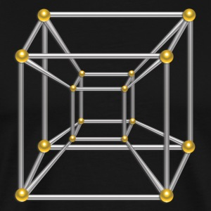 TESSERACT, Hypercube 4D, Symbol Dimensional Shift - Men's Premium T-Shirt