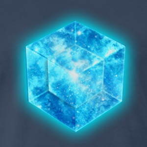 Hypercube 4D - TESSERACT Symbol Dimensional Shift - Men's Premium T-Shirt