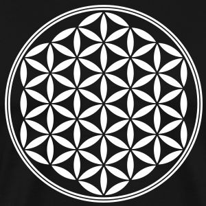 Flower of Life - Sacred Geometry, c, Healing Symbo - Men's Premium T-Shirt