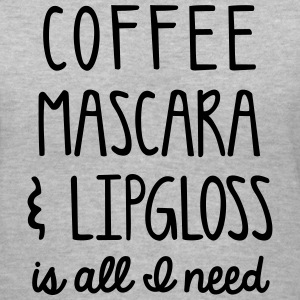 Coffee mascara & lipgloss - Women's V-Neck T-Shirt